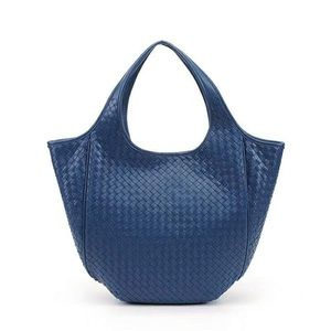 Natalie Woven Leather Tote